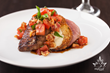 Baked Eggplant Stuffed Caprese Duck Breast