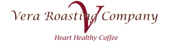 Vera Roasting Company logo with tagline – Heart Healthy Coffee