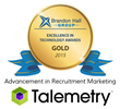 Talemetry Wins the Gold for Recruitment Marketing Innovation in the Brandon Hall Group 2015 Excellence Awards in Technology