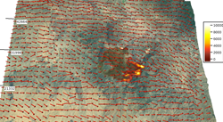 NCAR Wildfire prediction system: Still from computer model visualization of wildfire