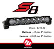 Baja Designs Announces S8™ Light Bar Featuring Unique Design and Backlit Feature