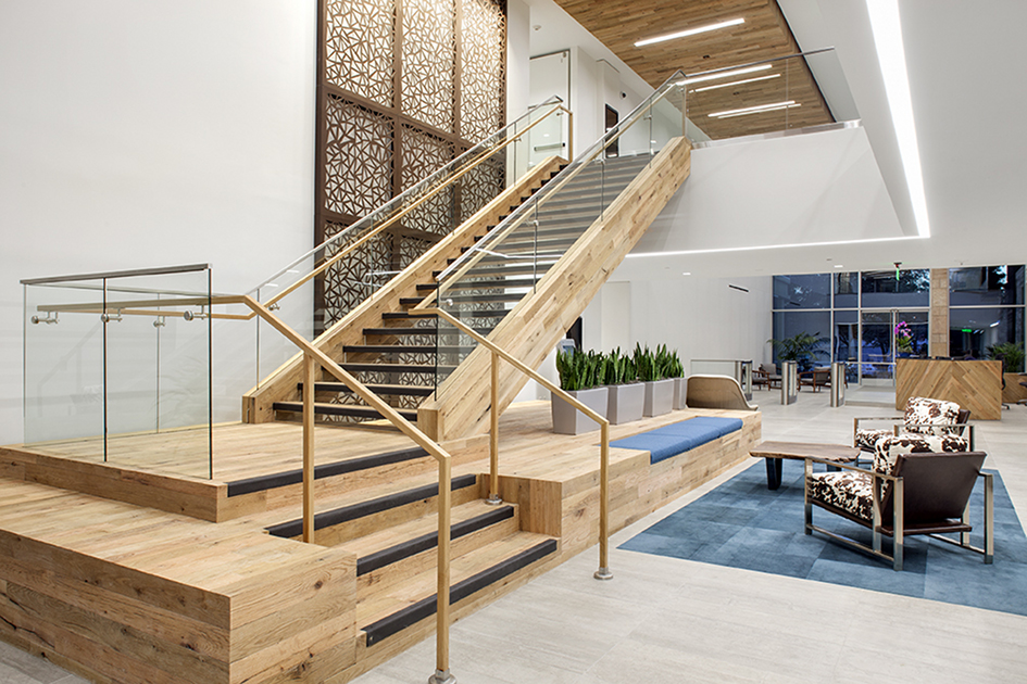 Jonathan orpin of pioneer millworks new energy works for Office stairs design