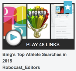 Tricon for the Robocast 33 Top Athletes Searched in 2015
