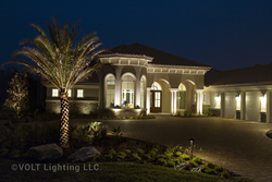 VOLT® LED MR16s used in spotlights for this landscape lighting project.