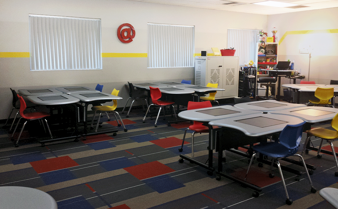 Collaborative Learning Classroom Furniture ~ Smartdesks pi collaboration tables energize folsom high s