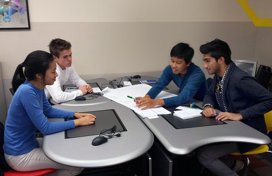 Collaborative Classroom Definition ~ Smartdesks pi collaboration tables energize folsom high s