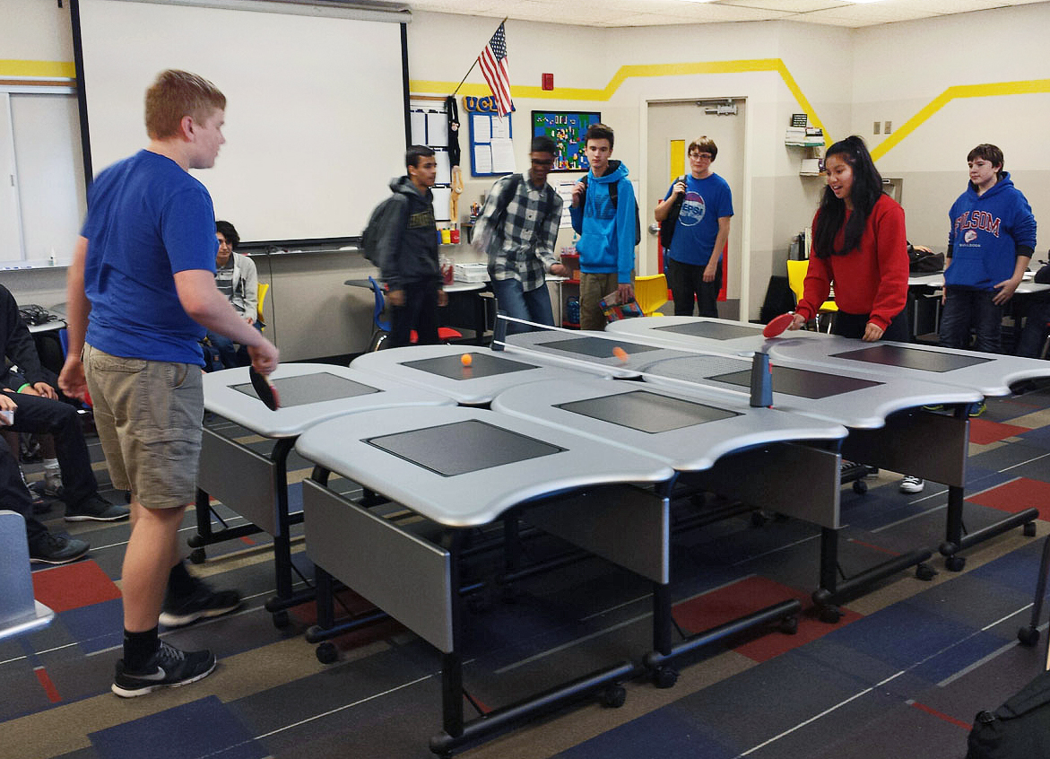 Collaborative Classroom Definition ~ Smartdesks pi collaboration tables energize folsom high s