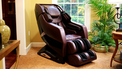 Infinity Riage Massage Chair in Chocolate Brown