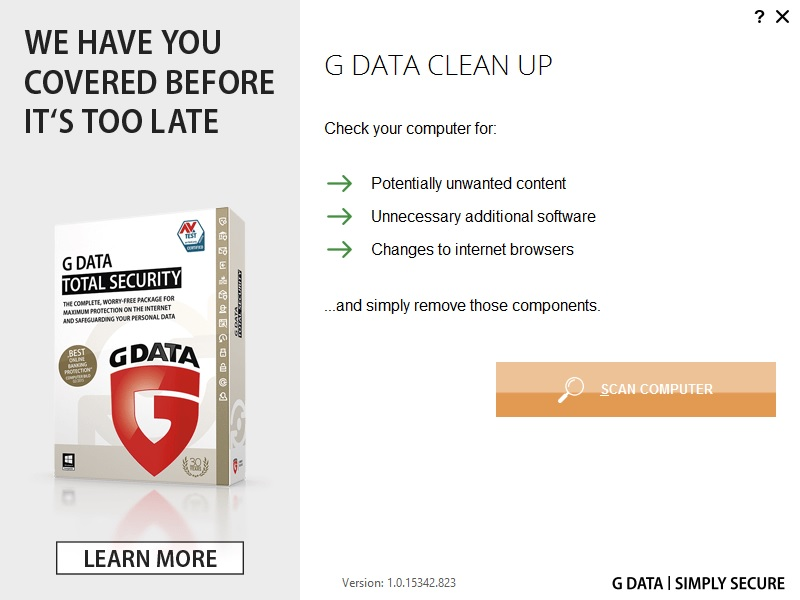 G DATA Launches CLEAN UP to Protect Users from Adware and ...