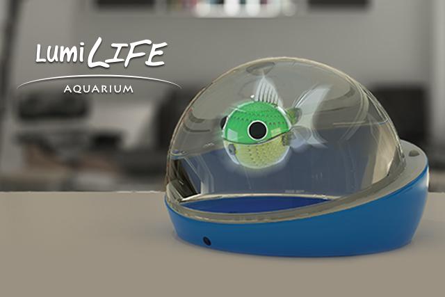 Lumilife the wireless robotic fish aquarium is the for Robo fish tank