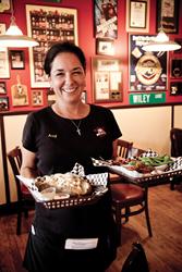 Savannah GA barbecue restaurant decor enhances best bbq food experience   Photo courtesy Wiley's Championship BBQ