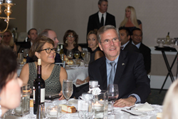 FL-Governor-Jeb-Bush-and-his-wife-Columba-at Keiser-University-fundraiser-for-Cystic-Fibrosis