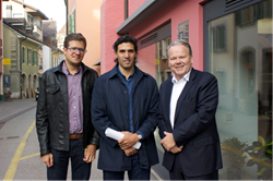 LivingNethos founder and CEO, Ignacio Garcia (centre) with Dr. Lukasz Bochenek (left) who leads Leidar´s insight offering and Rolf Olsen (right), Leidar CEO and founder.