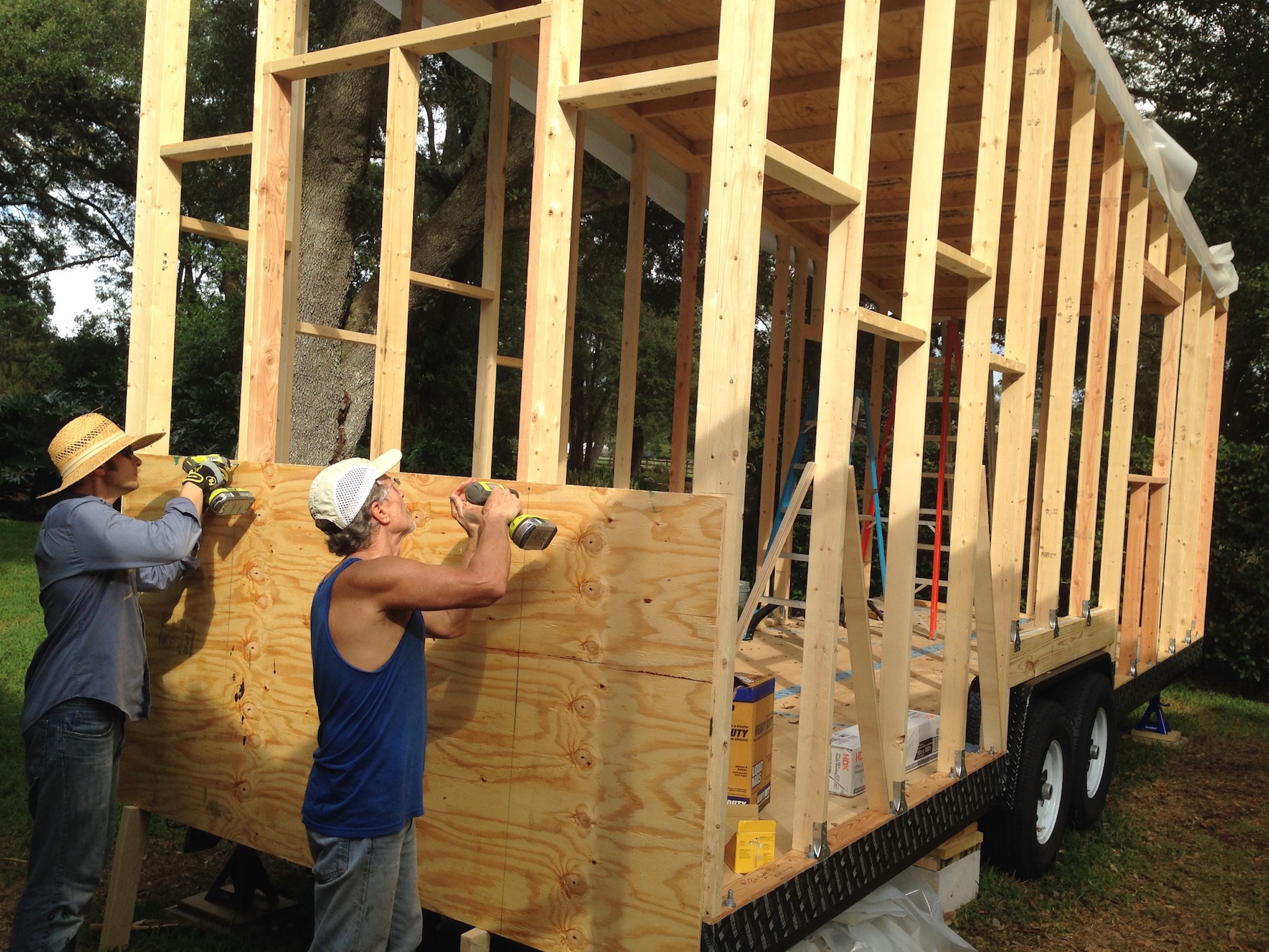 tiny house construction. Tampa Attorney Builds Tiny House With Son To Promote Quality Construction E