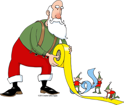 Santa using floor marking tape