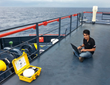 Here the MCD-4800 is used as a wireless hotspot on a vessel at sea.