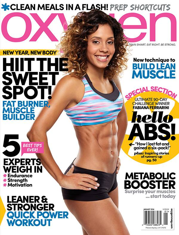 Stay At Home Mom Physical Fitness Trainer Fabiana Ferrarini Is Oxygen Magazine S First Latina Cover Model