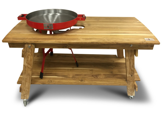 Firedisc grills two texan brother entrepreneurs a for Concreteworks fire table