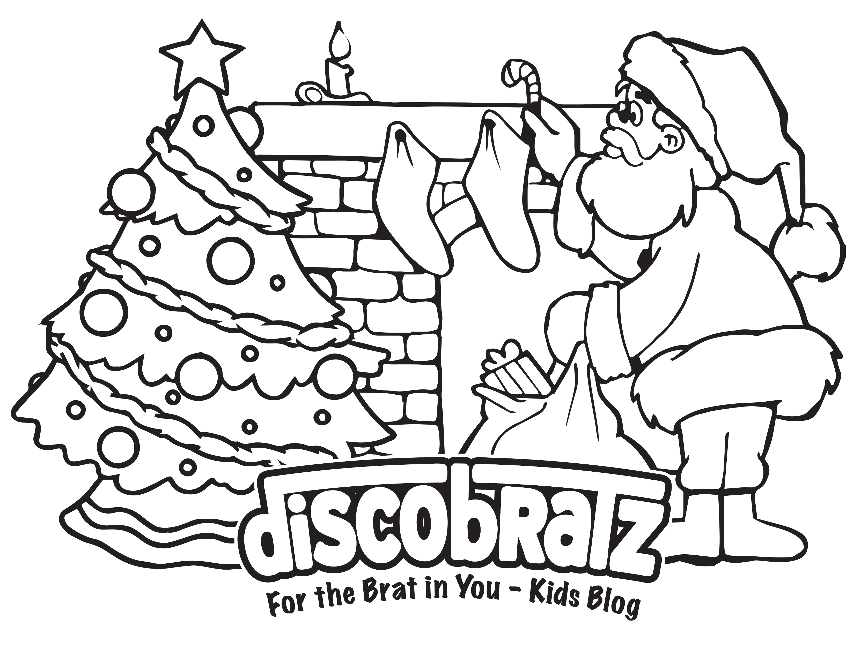 discobratz releases holiday themed coloring page featuring the man in red. Black Bedroom Furniture Sets. Home Design Ideas