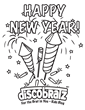 DiscoBratz Offers a Brand New Creative Activity New Year's Coloring Page for 2016