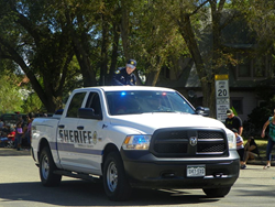 Crowley County Sheriff's vehicle