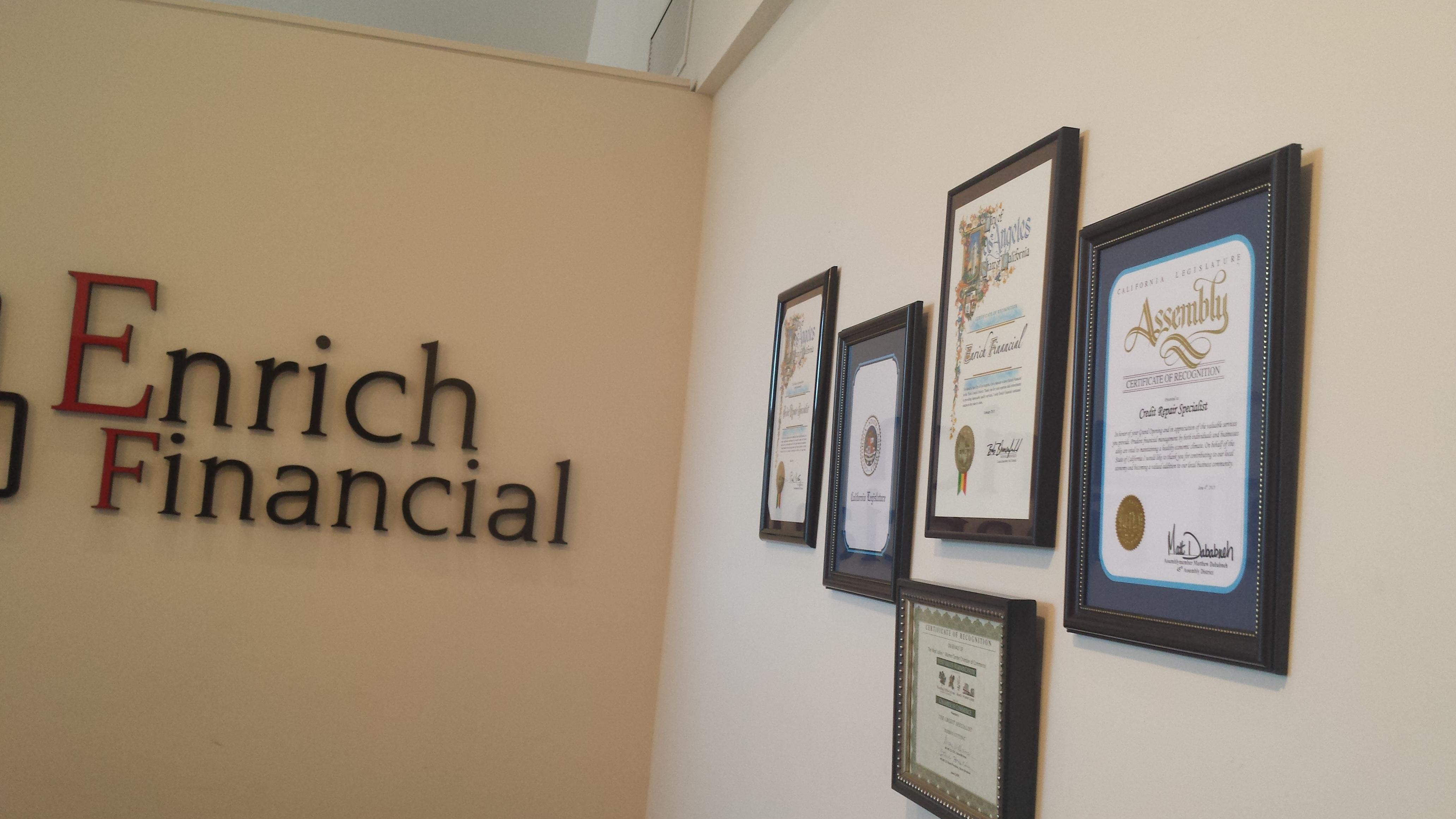 Arian Eghbali Enrich Financial Hailed As Number 1 Credit Repair