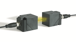 The Balluff inductive coupling solution enables transfer of power and data over a small air gap
