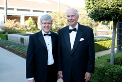 President of MBKU, Kevin Alexander, OD, PhD with James H. Blake