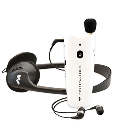 Pocketalker 2.0 Personal Amplifier with Earbuds and Headphone