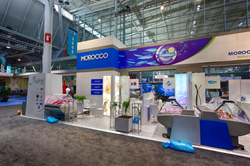 Morocco Pavilion, trade show exhibit, Seafood Expo North American 2014