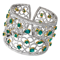 emerald and gold cuff from Gray & Sons