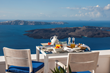 Breakfast view at Iconic Santorini