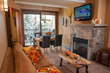 Every Antlers at Vail guest suite includes a gas fireplace and room to spread out creating a Colorado skiing home-away-from-home for families. (Courtesy Antlers at Vail)
