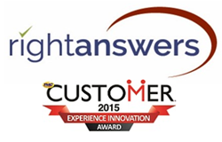 RightAnswers wins 2015 Customer Experience Innovation Award