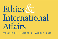 Ethics & International Affairs Winter Issue, 2015