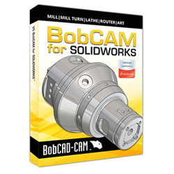 BobCAM for SOLIDWORKS CAM Programming Software Box Cover