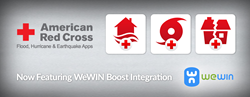 WeWIN's Boost Platform in Red Cross Hurricane, Earthquake & Flood Apps