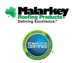 Malarkey Roofing Products certified by GreenCircle