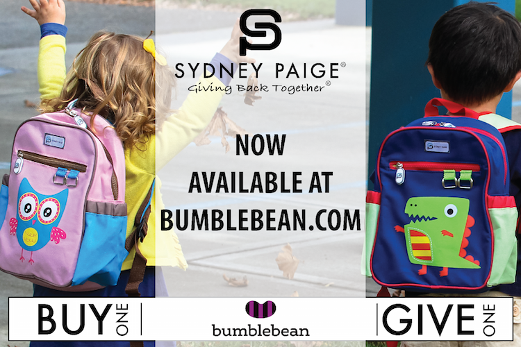 3699aa9b7e2 Sydney Paige® Partners with Bumblebean for an Innovative Way to Grow Their Buy  One   Give One Backpack Business and Resulting Impact on Children in Need  in ...