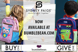 Sydney Paige Buy One Give One Backpacks and Bumblebean Partnership