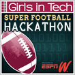 "Winners Selected in Girls in Tech's ""Super Football Hackathon"" Presented by espnW"