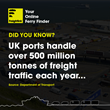 Did you know? UK ports handle over 500 tonnes of freight traffic each year.