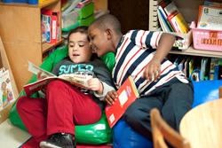 Children Reading in a CLI Classroom