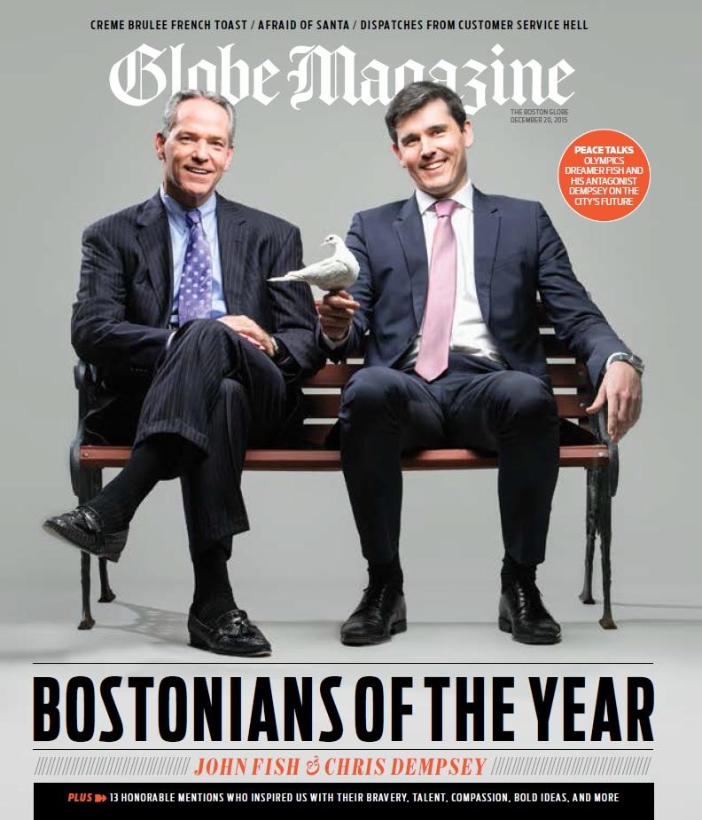 The Boston Globe Magazine Names Chris Dempsey and John Fish 2015