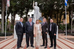 Pictured are Danny Alvarez, Guillermo Toledo, Gracia Bennish, Cristian Vargas (Executive Director, United for Human Rights) and Mario Barroso.