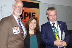 Participants at SPIE Micro and Nano included SPIE President-Elect Robert Lieberman, plenary speaker Michal Lipson of Columbia University, and symposium chair Benjamin Eggleton, University of Sydney.