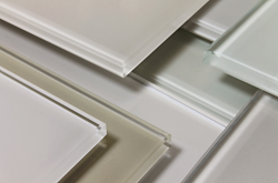 Bendheim's off-white back-painted architectural glass collection.