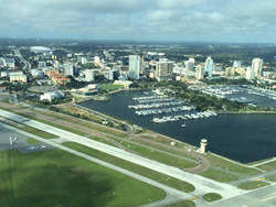 Tropic Ocean Airways Over Downtown St Pete
