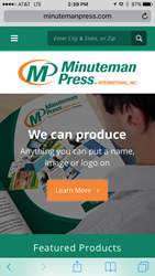 Minuteman Press International Launches Newly Redesigned Website - mobile screenshot - we can produce anything you can put a name, image or logo on