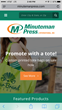 Minuteman Press International Launches Newly Redesigned Website - mobile screenshot - promotional products - promote with a tote